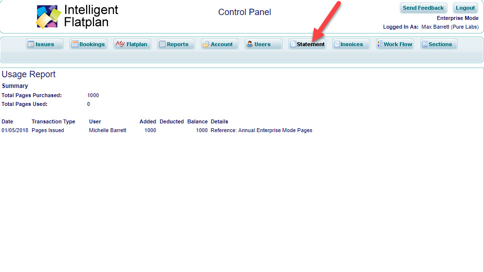 Walkaround Control Panel 7 Statement